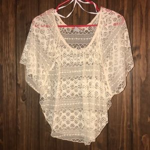 NWOT Body central lace top